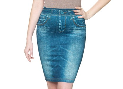 Slim 'N Lift Caresse Skirt - Fusta de blugi Slim 'N Lift Caresse